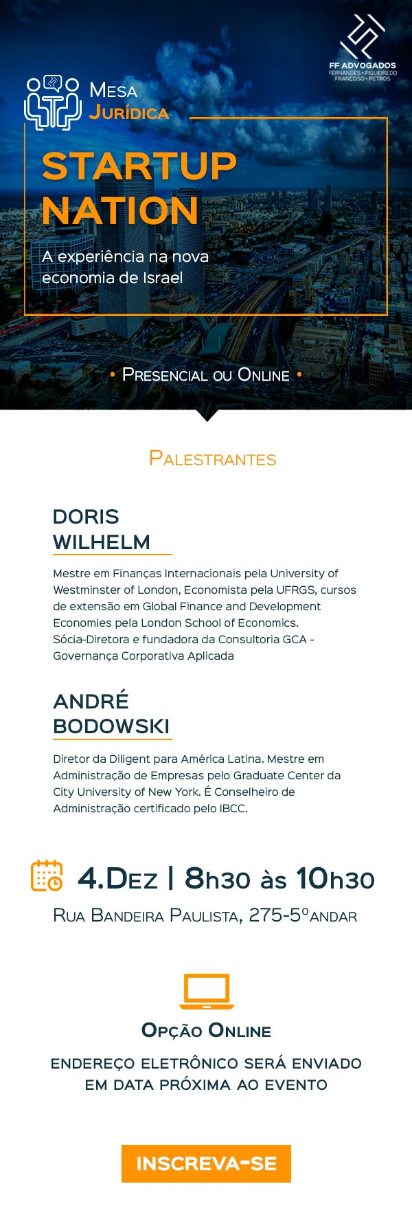 Mesa Jurídica do FF - A experiência na nova economia de Israel