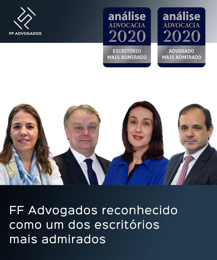 FF Advogados reconhecido como um dos escritórios mais admirados